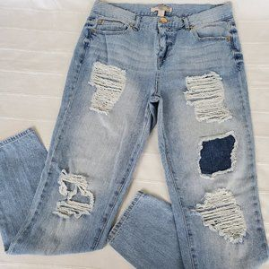 Forever 21 Distress Light Washed Jeans